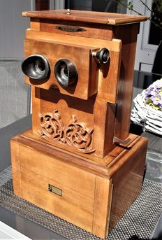 EDUCA II Stereoscop stereoscope with 39 stereo glass plates