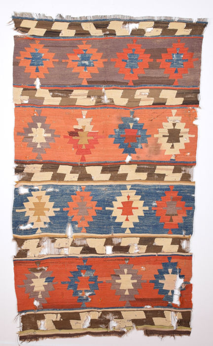An Early 19th Century Central Anatolian Konya Kilim Size 110 x 190 cm