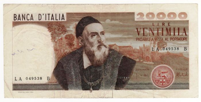 Italy - 3 banknotes - 500, 1,000 and 20,000 lire