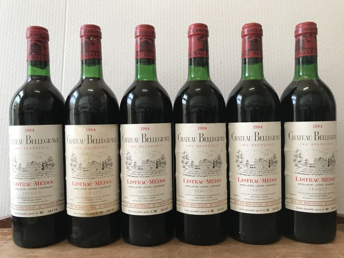 1984 Château Bellegrave, Cru Bourgeois Listrac-Medoc - Total 6 Bottles