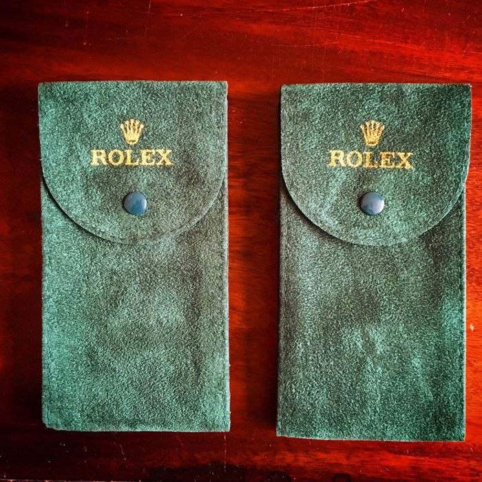 2 rolex travel pouches