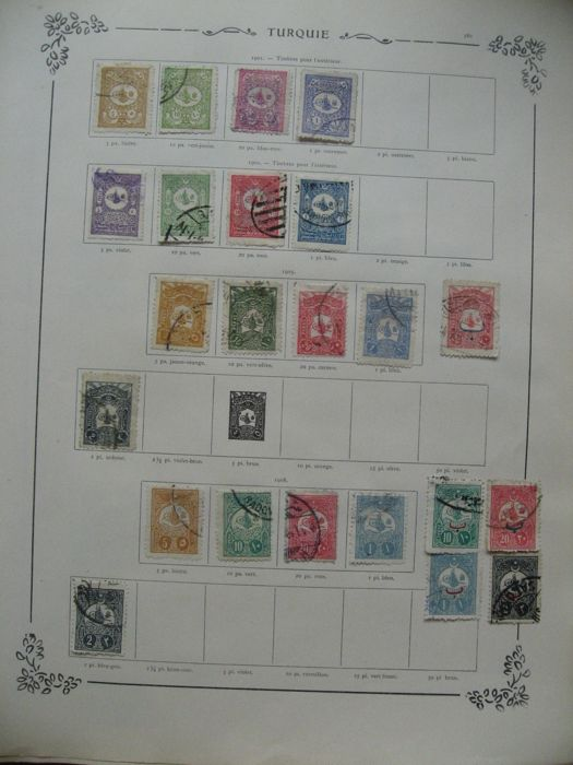 Turkey 1901/938 - Collection of stamps including stamps for newspapers and postage due