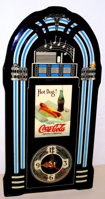 Coca Cola jukebox clock 1980
