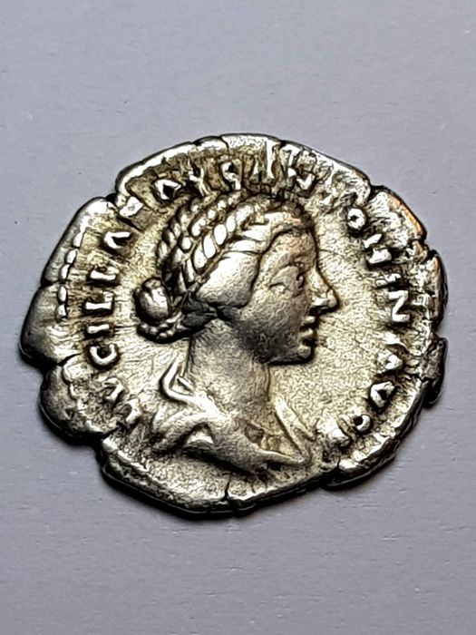 Roman Empire - Lucilla Augusta (wife of Verus), 164-182 AD. AR Denarius, Rome mint