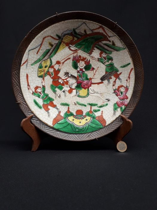 Large antique porcelain Nanking platter - China - around 1920