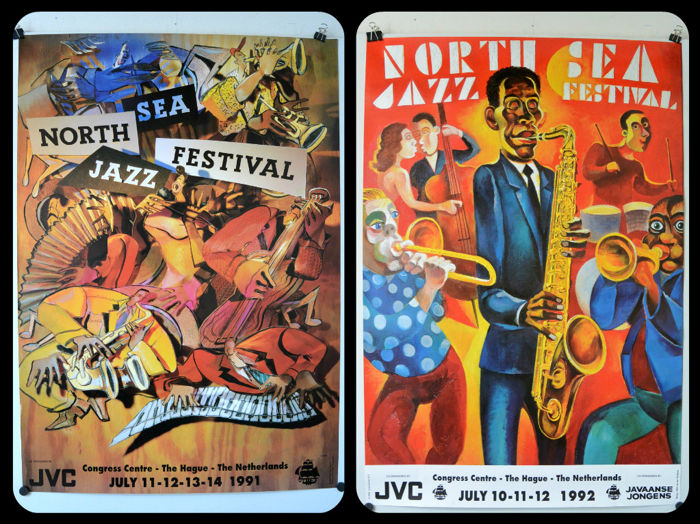 North sea jazz Festival, The Hague, Art posters 1991 and 1992