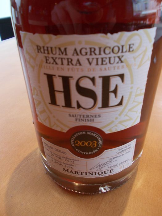 Rhum Hse Sauternes Finish. 2003.