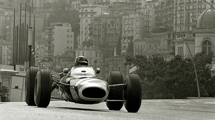 1966  Monaco Grand Prix  Graham Hill BRM  photograph 54cm x44 cm.