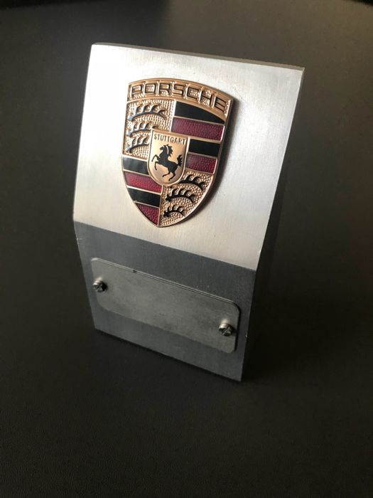 Porsche dealership paperweight emblem 911 trophy
