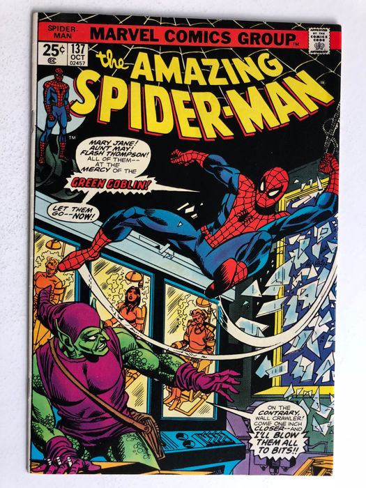 Marvel Comics - The Amazing Spider-Man #137 - 2nd Appearance of Harry Osborn as Green Goblin - 1x sc - (1974)