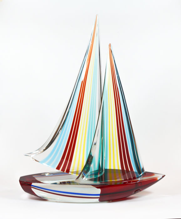 Alberto Donà (Murano) - Sailboat Sculpture (55 cm)