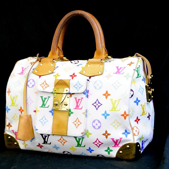 Louis Vuitton - Speedy 30 multicolor bianco Handtas