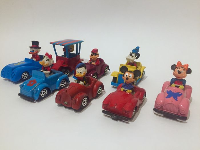 Walt Disney - 8 Die-cast cars Esci - No.1 to No.8 - Complete series (1983)