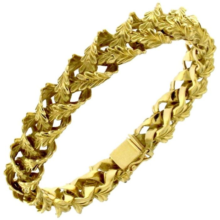 "Bracelet from the ""Whisky"" collection, in 18 kt yellow gold"
