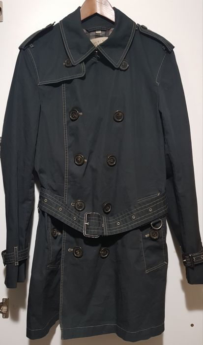 Burberry Brit - Men's double-breasted trench coat, vintage and original