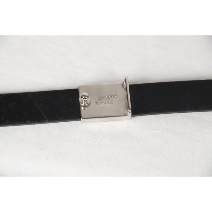 d5a2a79bae1 ... hot gianni versace vintage black patent leather silver chain belt no  reserve price 3c17d adf26
