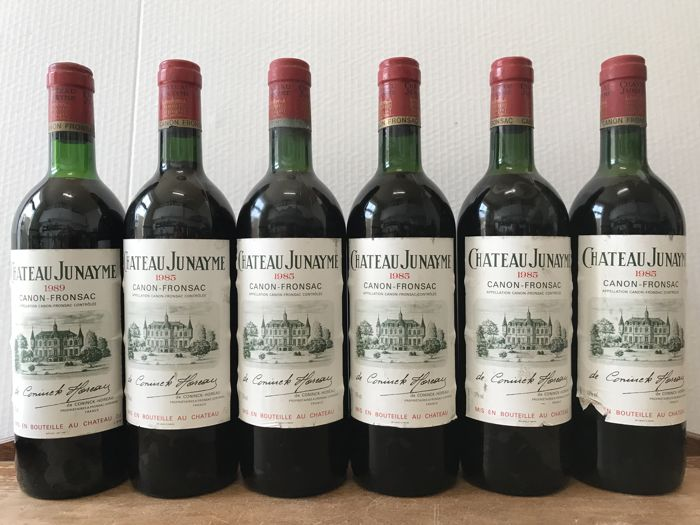 1989 Château Junayme, Canon Fronsac x 1 bottle - 1985 Château Junayme, Canon Fronsac x 5 bottles  - Total 6 Bottles