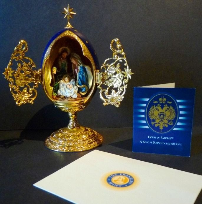 "House of Fabergé - "" A King is Born "" - Oeuf Collector - Email - Strass Swarovski - Finition plaque Or 24k - Numéroté"