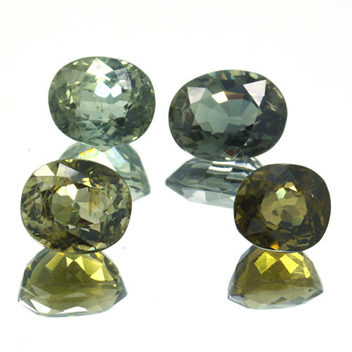 4 Green Tourmaline - 5.86 ct. - No Reserve Price