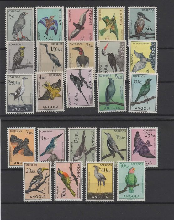 Portugal Angola and India 1946/1951 - Birds set and block.