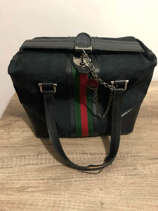 Gucci GG canvas square doctors Handbag