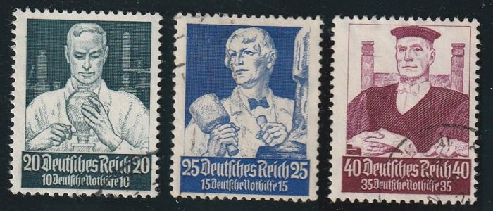 German Reich 1933 - 1944, Michel 2017 no. 479 - 909 with official stamps. Bohemia and Moravia 1939 - 1943 with official stamps MNH and cancelled - complete.