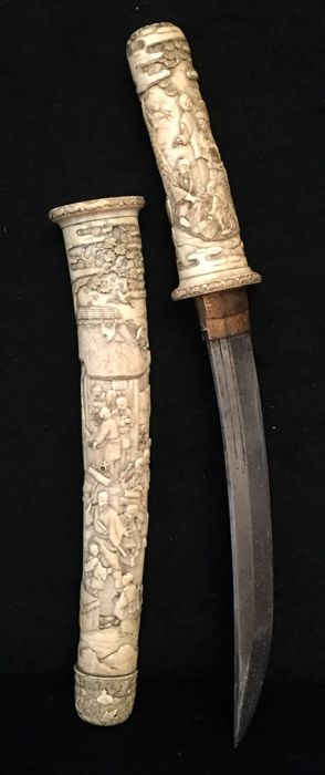 Ivory Sword in the Shape of Tachi Sword - Japan - ca. 1900 (Meiji period)