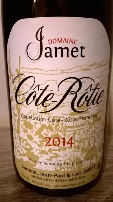 2014 Domaine Jamet, Cote-Rotie - 1 bottle