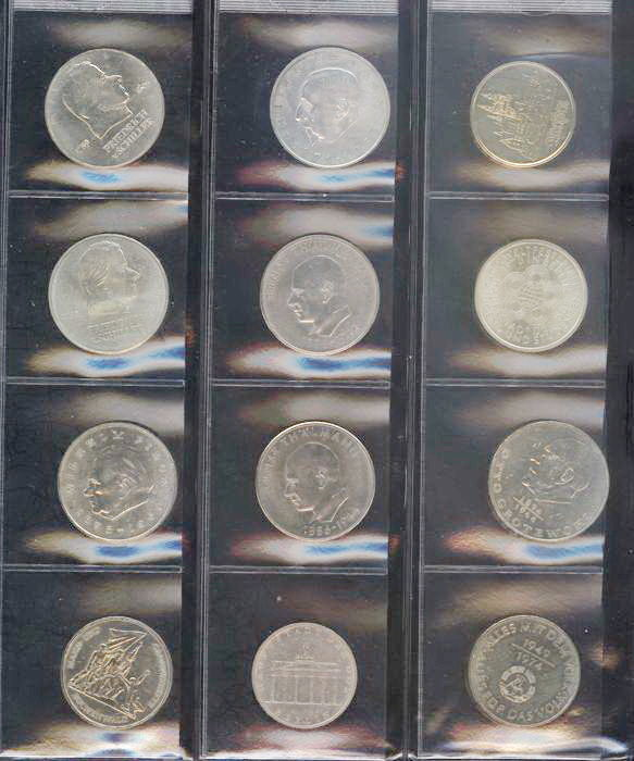 GDR - various coins in 2 sheets