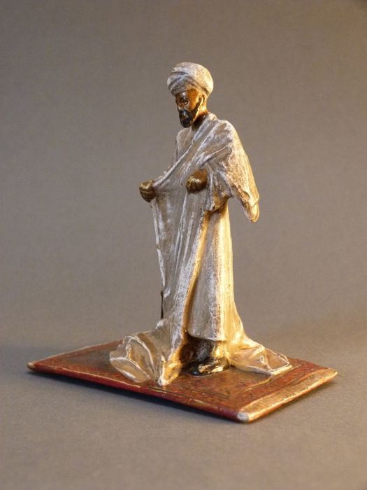 Bruno Zach - bronze figure of an Arab - Argentor Vienna