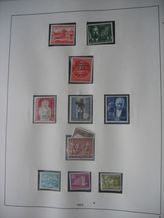 Berlin 1954/89 postage stamp collection