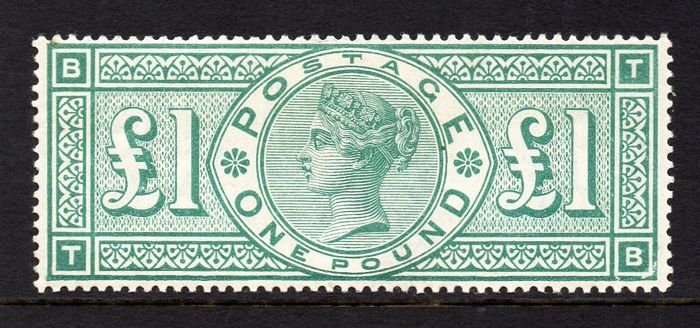Great Britain 1891 - Queen Victoria £1 Green - Stanley Gibbons 212