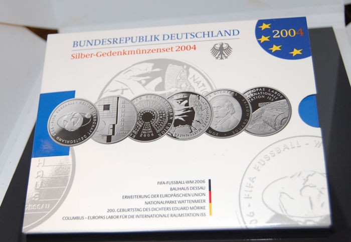 Federal Republic of Germany - 6 x 10 Euro silver commemorative coins 2004