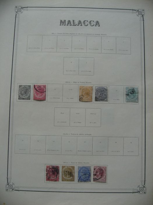 British Commonwealth, Malacca and Maldives, 1870/1965 - stamp collection