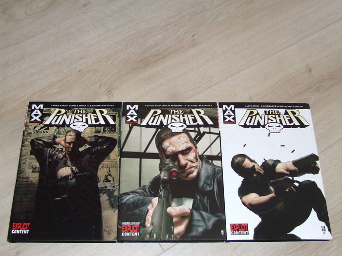 Punisher Max - Hardback - Volumes 1, 2 & 3 - Hardcover - First Edition - (2005)