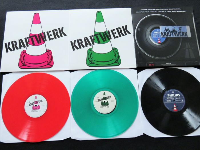 Kraftwerk - Great lot of 3 LP's, including 2x coloured vinyl!