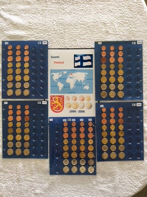 Finland - 1 cent/2 euro 1999 t/m 2006 - 16 complete series