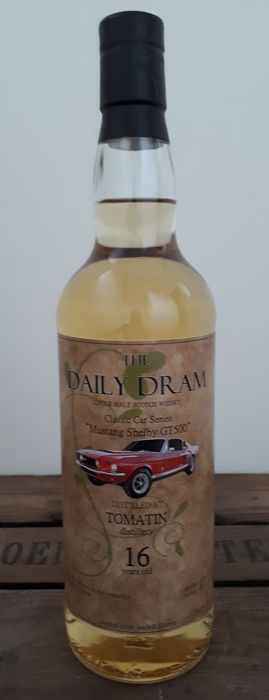 "Tomatin 1998 16 years old - The Daily Dram  - Classic Cars Serie ""Mustang Shelby GT 500"""