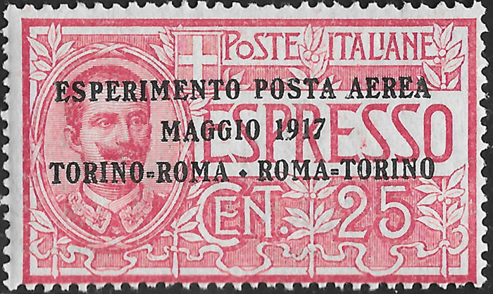 Italia Regno 1917 – Airmail lot comprised of all of the first series