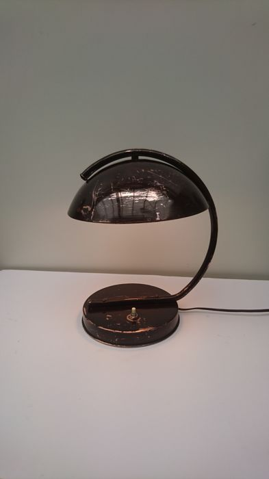 Koperen Art Deco Bureaulamp