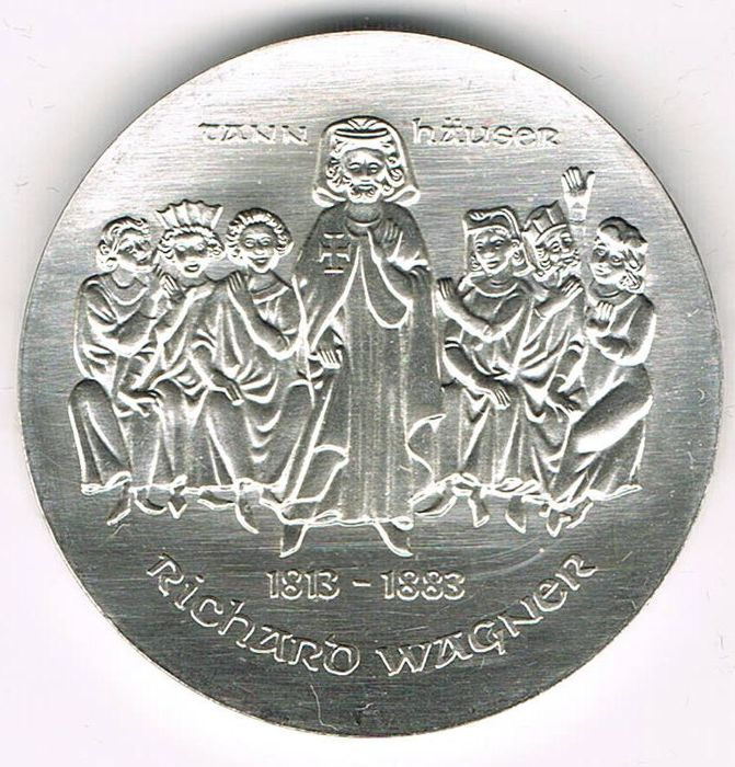 East Germany - 10 Mark 1982 100th Years of Death of Richard Wagner - silver