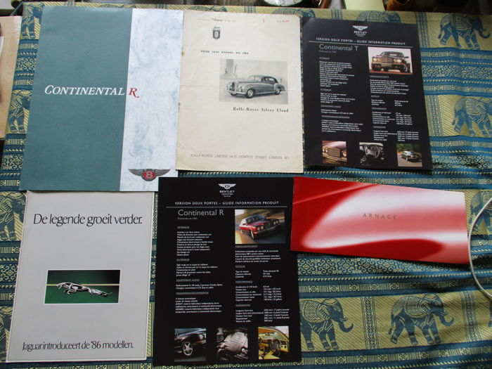 Car brochures (Bentley/Rolls Royce, 6x, 1958-2004)