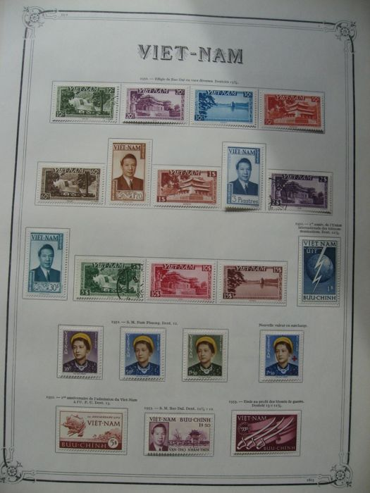 Viet-Nam 1950/1975 - Collection of stamps almost complete incl. airmail and taxes