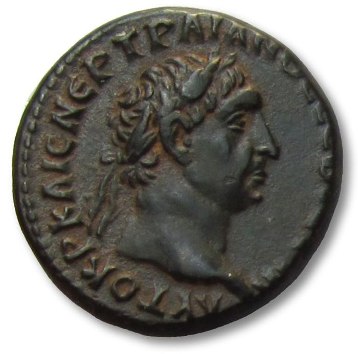 Roman Empire - Provincial. Antioch. AE bronze coin Trajan (98-117 A.D.), struck 98-99 A.D. - for circulation in Syria