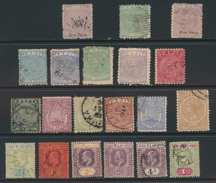 British Commonwealth - Selection of in the Pacific on stock cards and in sachets