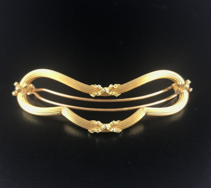 Hairpin in 18 kt gold, late 19th century, Napoleon III era, in perfect condition
