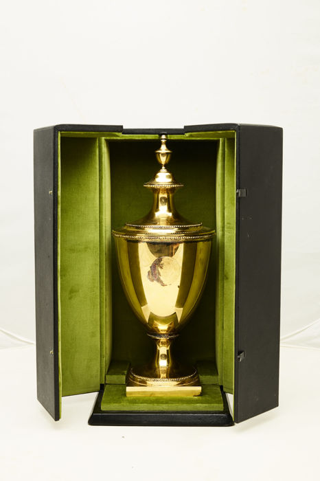 Unique very large gildet silver trophy in box, Tiffany & Co, New York, second half 20th century