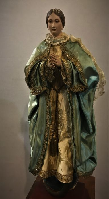 Sculpture of the Immaculate Conception in cap i pota dress - Catalonia or Aragon - early 19th century