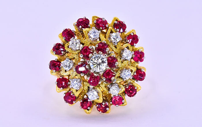1.86 Ct Ruby and Diamonds ring ***NO RESERVE price!***