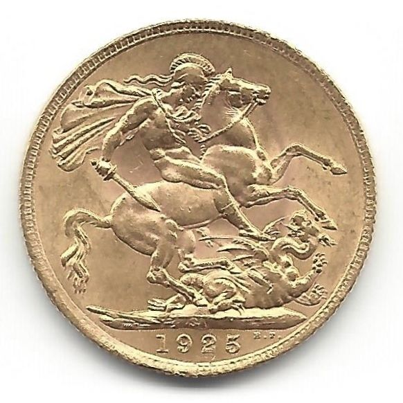 South Africa - Sovereign 1925 - SA George V - Gold